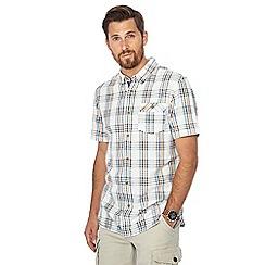 Mantaray - Big and tall orange checked print short sleeve shirt