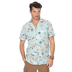 Mantaray - Big and tall green pineapple print short sleeve shirt