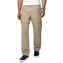 Mantaray - Big and tall taupe cargo trousers
