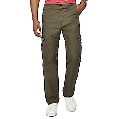 Mantaray - Big and tall khaki cargo trousers