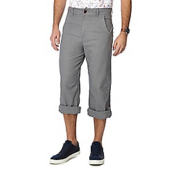 Mantaray - Big and tall grey linen blend regular fit trousers