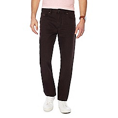 Mantaray - Big and tall brown denim straight fit jeans