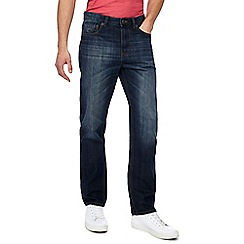 Mantaray - Big and tall mid blue vintage wash denim straight fit jeans