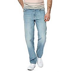 Mantaray - Blue light wash straight fit jeans