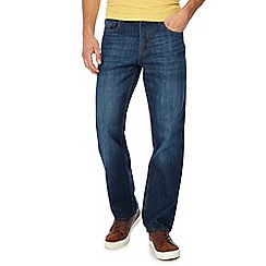 Mantaray - Mid blue light wash loose fit jeans