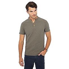 Mantaray - Big and tall grey y-neck t-shirt