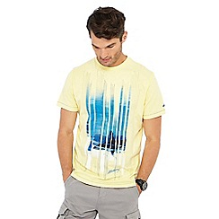 Mantaray - Pale yellow striped surfboard t-shirt