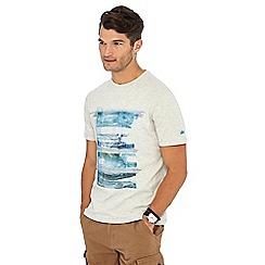 Mantaray - Cream watercolour print t-shirt