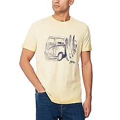 Mantaray - Big and tall yellow campervan print t-shirt