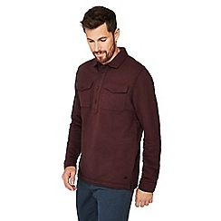 Mantaray - Wine red cotton rugby top