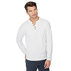 Mantaray - White Y-neck top