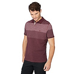 Mantaray - Dark red striped polo shirt