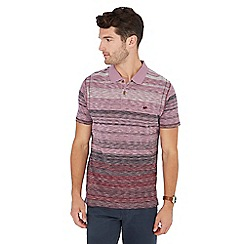 Mantaray - Pink textured stripe polo shirt