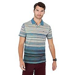 Mantaray - Big and tall blue textured stripe polo shirt