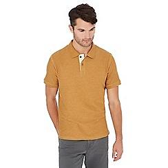 Mantaray - Big and tall gold textured stripe polo shirt
