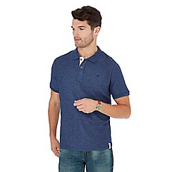Mantaray - Blue textured stripe polo shirt