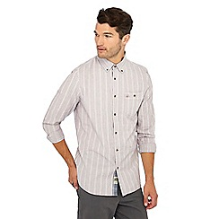 a5a0ce1240d Mantaray - Big and tall grey textured stripe long sleeve shirt