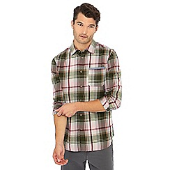 Mantaray - Wine check print long sleeve shirt