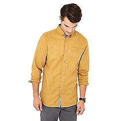 Mantaray - Mustard herringbone long sleeve shirt