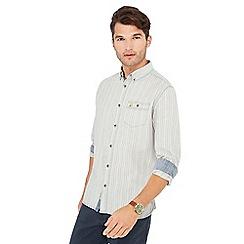 Mantaray - Light blue textured long sleeve shirt