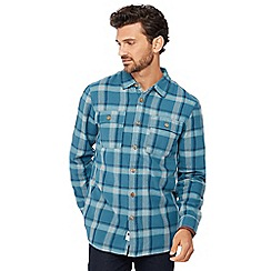 Mantaray - Blue checked lumberjack shirt