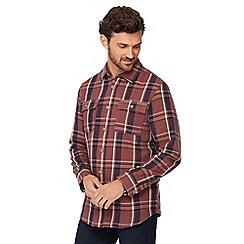 Mantaray - Big and tall wine checked lumberjack shirt