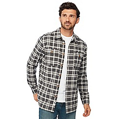 Mantaray - Grey checked borg lined long sleeve regular fit shirt