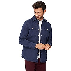 Mantaray - Navy long sleeve regular fit overshirt