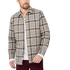 Mantaray - Grey checked quilted shirt jacket
