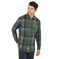Mantaray - Green check print long sleeve shirt
