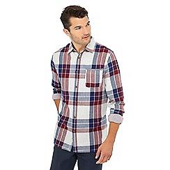 Mantaray - Grey check print long sleeve shirt
