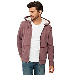 Mantaray - Wine zip through hoodie