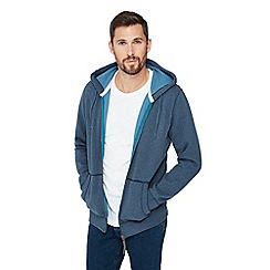 Mantaray - Navy zip through hoodie