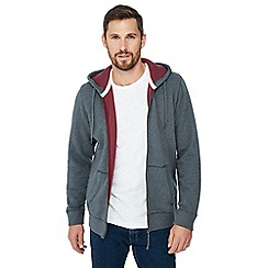 Mantaray - Big and tall grey zip through hoodie