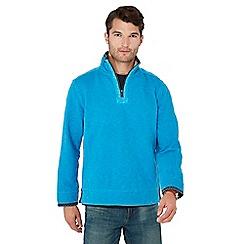 Mantaray - Blue zip neck sweatshirt