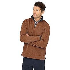 Mantaray - Brown zip neck sweatshirt