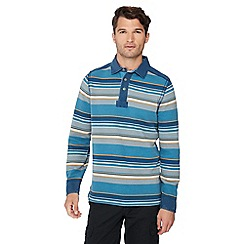 Mantaray - Dark blue striped rugby shirt
