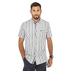 Mantaray - Multicoloured textured striped short sleeve regular fit shirt