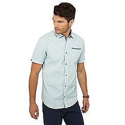 Mantaray - Light blue striped short sleeve regular fit shirt