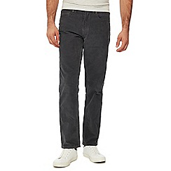 Mantaray - Big and tall grey straight leg corduroy trousers