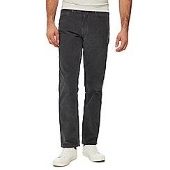 Mantaray - Grey straight leg corduroy trousers