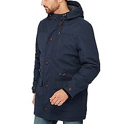 Mantaray - Navy borg lined parka