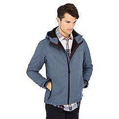 Mantaray - Blue softshell hooded jacket