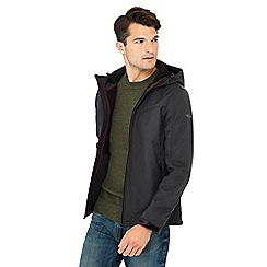 Mantaray - Big and tall dark grey softshell hooded jacket