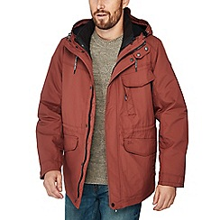 Mantaray - Wine red shower resistant 3-in-1 jacket
