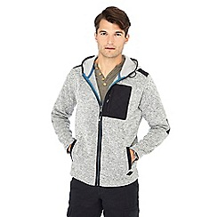 Mantaray - Big and tall grey hoodie jacket