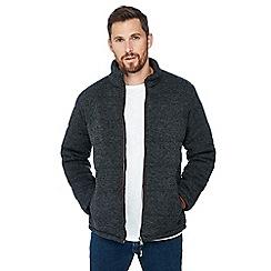 Mantaray - Big and tall dark grey knit look puffer jacket