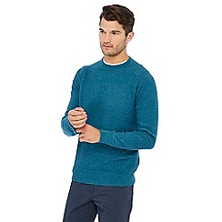 Mantaray - Turquoise maze knit cotton jumper