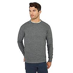 Mantaray - Grey maze knit cotton jumper