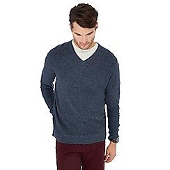 Mantaray - Dark blue maze knit cotton jumper